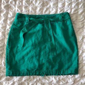 Banana Republic Green Linen Blend Skirt